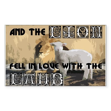 Twilight Movie Lion Lamb Rectangle Sticker