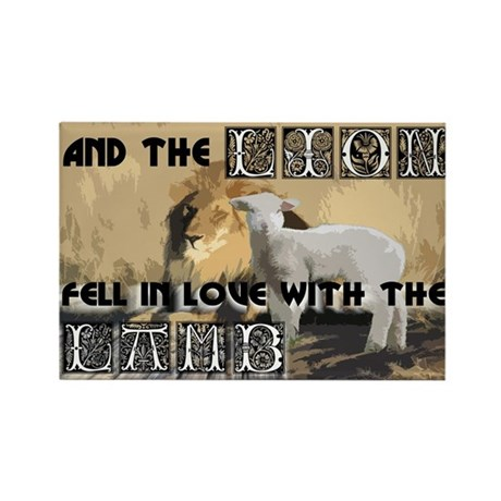 Twilight Movie Lion Lamb Rectangle Magnet (100 pac