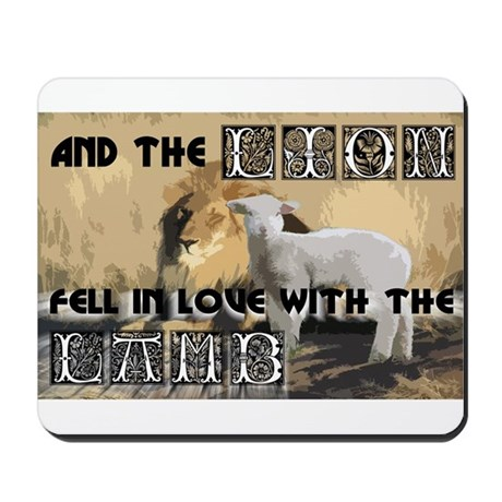 Twilight Movie Lion Lamb Mousepad