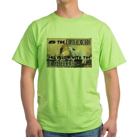 Twilight Movie Lion Lamb Green T-Shirt