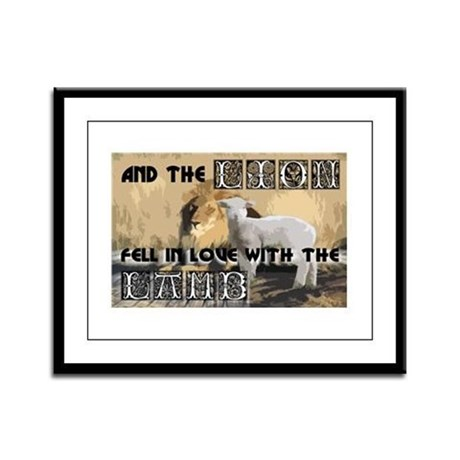 Twilight Movie Lion Lamb Framed Panel Print
