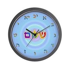 Shalom Watercolor Wall Clock