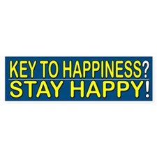 Stay Happy - Bumper Car Sticker
