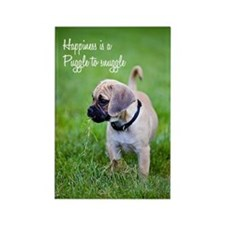 Puggle Snuggle Rectangle Magnet