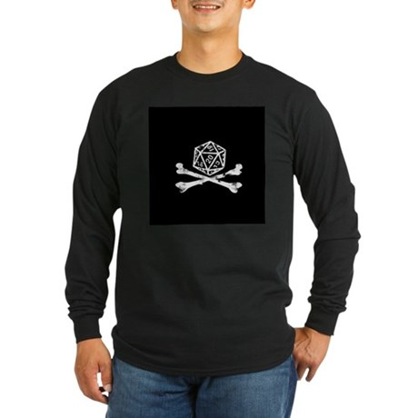 D20 and crossbones Long Sleeve Dark T-Shirt