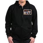 Ocean City New Jersey Zip Hoodie (dark)