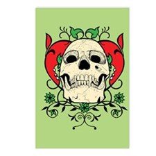 Skull and Heart Postcards (Package of 8)