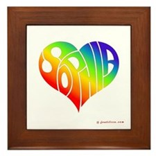 Sophia (Rainbow Heart) Framed Tile