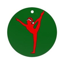 Christmas Gymnast Ornament (Round)