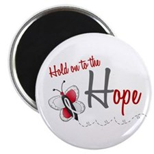 "Hold On To Hope 1 Butterfly 2 PEARL/WHITE 2.25"" Ma"