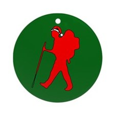 Christmas Hiker Ornament (Round)