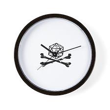 D20 and crossbones Wall Clock