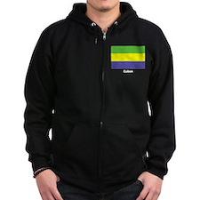 Gabon Flag Zip Hoodie