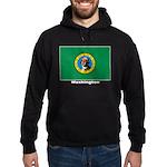 Washington State Flag Hoodie (dark)
