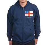 Episcopal Church Flag Zipped Hoodie