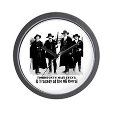 Tombstone's Main Event: OK Corral Wall Clock