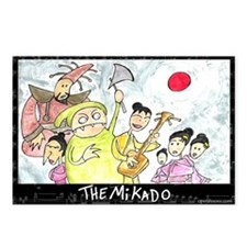 The Mikado Postcards (Package of 8)