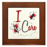 I Care 1 Butterfly 2 PEARL/WHITE Framed Tile