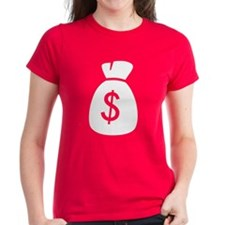 Money Bag Women's Fit T (white logo)