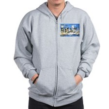 Biloxi Mississippi Greetings Zip Hoodie