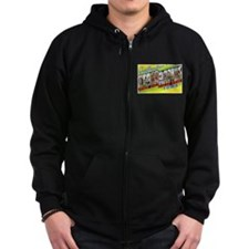 Cedar Rapids Iowa Greetings Zip Hoodie