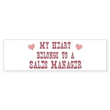 Belongs to Sales Manager Bumper Bumper Sticker