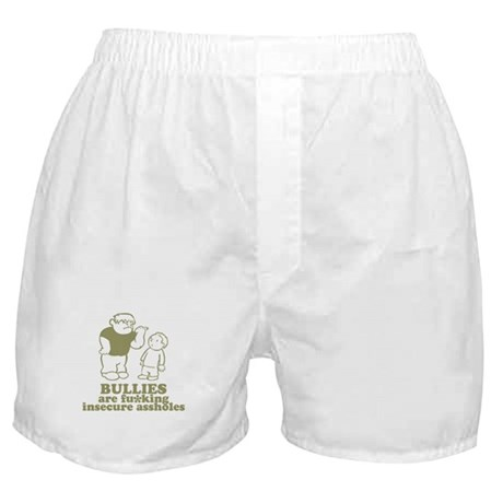 Bullies are fu*king insecure Boxer Shorts