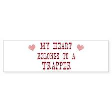 Belongs to Trapper Bumper Bumper Sticker