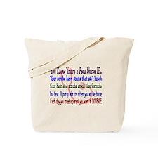 More PEDS Nurse Tote Bag