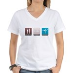 Eat, Sleep, Gymnastics Women's V-Neck T-Shirt