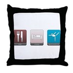 Eat, Sleep, Gymnastics Throw Pillow