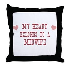 Belongs to Midwife Throw Pillow