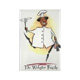 Black African American Chef Rectangle Magnet