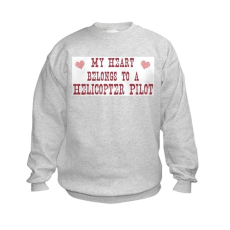 Belongs to Helicopter Pilot Kids Sweatshirt
