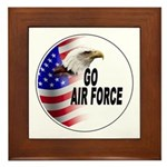 Go Air Force Framed Tile