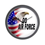 Go Air Force Wall Clock