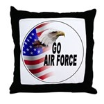 Go Air Force Throw Pillow
