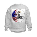 Go Air Force (Front) Kids Sweatshirt