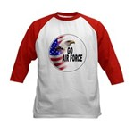 Go Air Force (Front) Kids Baseball Jersey