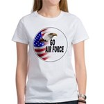 Go Air Force (Front) Women's T-Shirt