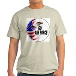 Go Air Force (Front) Ash Grey T-Shirt