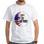 Go Air Force (Front) White T-Shirt