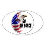Go Air Force Oval Sticker