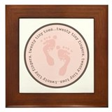 Tiny baby toes... Framed Tile
