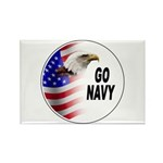 Go Navy Rectangle Magnet (10 pack)