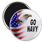 Go Navy Magnet