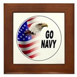 Go Navy Framed Tile