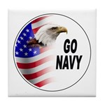 Go Navy Tile Coaster