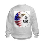 Go Navy (Front) Kids Sweatshirt