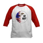 Go Navy (Front) Kids Baseball Jersey